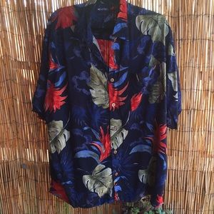 Puritan Hawaiian Print Shirt Size XL